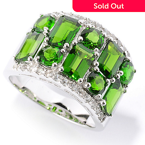 127-162 - NYC II™ 4.76ctw Chrome Diopside & White Zircon Band Ring