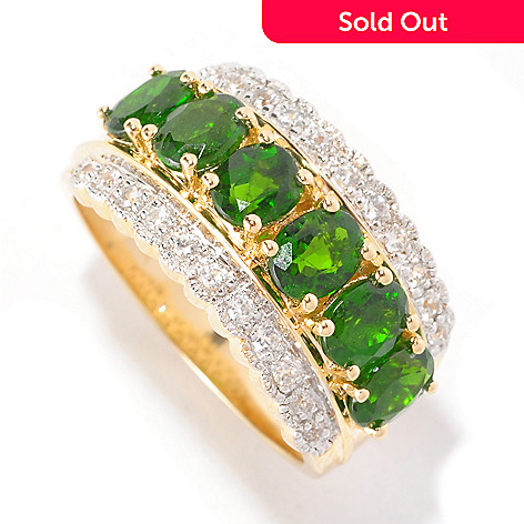 127-163 - NYC II™ 2.82ctw Chrome Diopside & White Zircon Band Ring