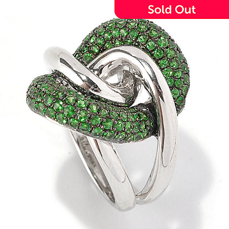 127-186 - Effy Sterling Silver 2.06ctw Tsavorite Interlocking Balissima Ring