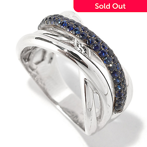 127-191 - Effy Sterling Silver 0.75ctw Sapphire Crossover Balissima Ring