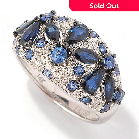 127-214 - EFFY 14K White Gold 2.75ctw Sapphire & Diamond Ring
