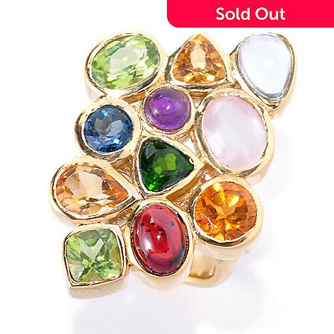 127-223 - Colette 7.72ctw Multi Gemstone ''Ciel'' Cluster Ring