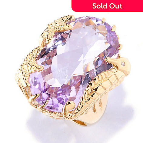 127-226 - Colette 23.12ctw Amethyst & Diamond ''Under the Sea'' Ring