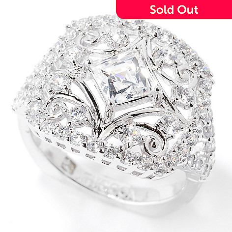 127-267 - TYCOON for Brilliante® 1.69 DEW Square & Round Cut Filigree Ring