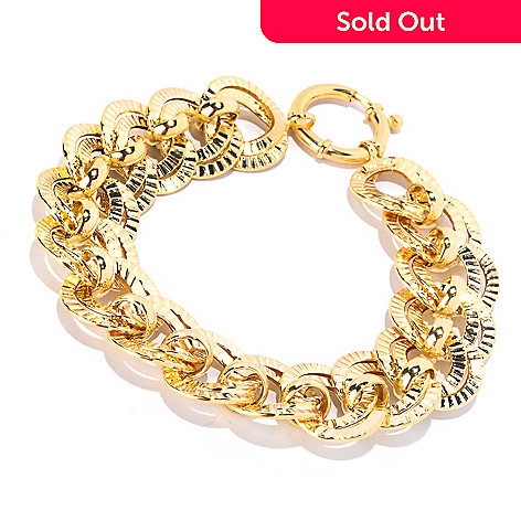 127-269 - Italian Designs with Stefano 14K Gold 7.5'' Sonata Oro Bracelet, 10.73 grams