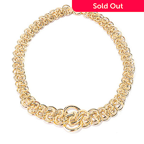 127-277 - Italian Designs with Stefano 14K Gold 18'' Graduated Fancy Link Necklace, 30.59 grams