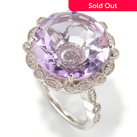 127-289 - Glenn Bradford 7.33ctw Pink Amethyst & Diamond ''Gwenn II'' Cocktail Ring