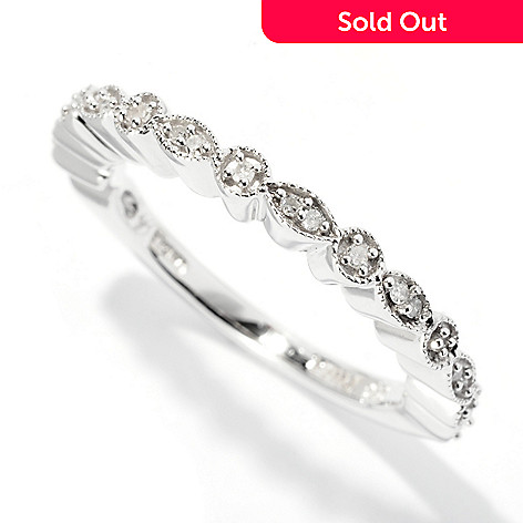 127-290 - Glenn Bradford 0.10ctw Diamond ''Gwenn Marquise'' Stack Ring
