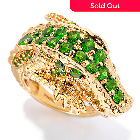 127-306 - NYC II™ 1.89ctw Chrome Diopside Alligator Ring