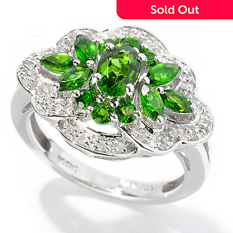 127-307 - NYC II 1.27ctw Chrome Diopside & White Zircon Ring
