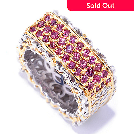 127-308 - Gems en Vogue 1.12ctw Raspberry Sapphire Square Band Ring