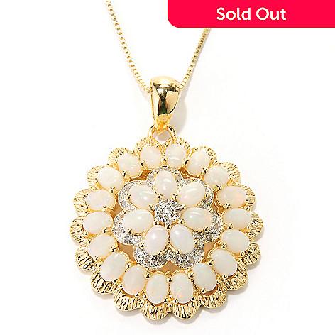 127-309 - NYC II™ 3.16ctw Opal & White Zircon Pendant w/ Chain