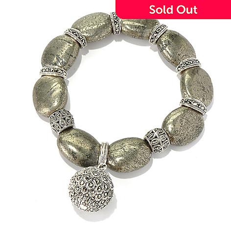 127-324 - Dallas Prince Sterling Silver 7'' Bracelet Made w/ Swarovski® Marcasite