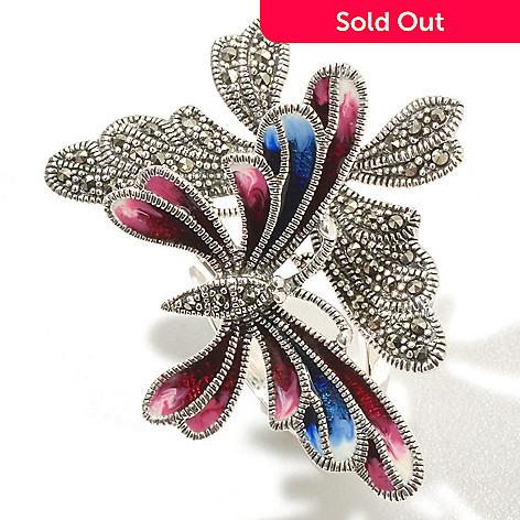 127-325 - Dallas Prince Sterling Silver Butterfly Ring Made w/ Swarovski&reg: Marcasite