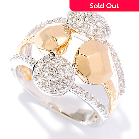127-354 - Southport Diamonds Sterling Silver & 14K Vermeil 0.51ctw Diamond Multi Shaped Ring