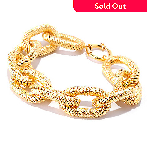 127-377 - Italian Designs with Stefano 14K Gold Orizzonte Oro Bracelet