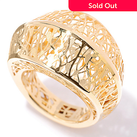 127-381 - Italian Designs with Stefano 14K Gold Ricami Dome Ring