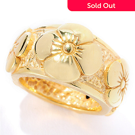127-383 - Italian Designs with Stefano 14K ''Oro Vita'' Electroform Fantasia Ring