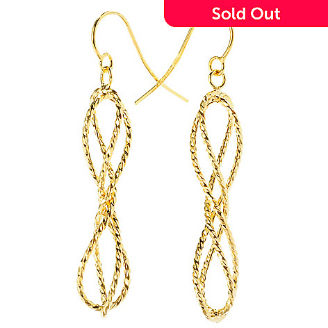 127-396 - Italian Designs with Stefano 14K Gold Ballerina Twisted Dangle Earrings