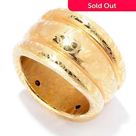 127-397 - Italian Designs with Stefano 14K ''Oro Vita'' Eectroform Silk Road Ring