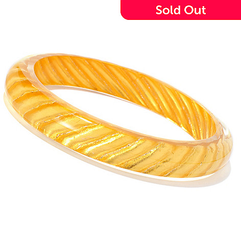 127-407 - Italian Designs with Stefano 24K ''Oro Puro'' Gold Foil Satin-Design Bangle Bracelet