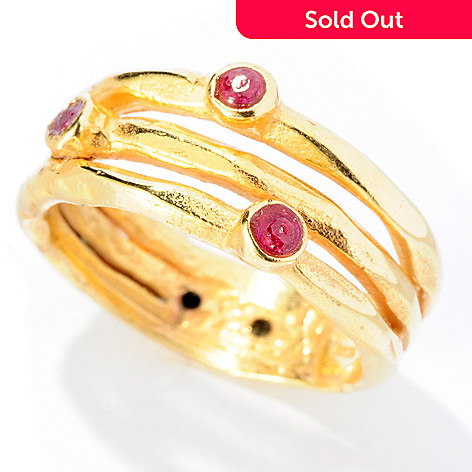 127-410 - Italian Designs with Stefano 14K ''Oro Vita'' Gemstone Scatter Ring