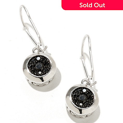 127-462 - Gem Treasures® Sterling Silver Black Spinel Earrings