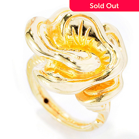 127-565 - Italian Designs with Stefano 14K ''Oro Vita'' Electroform Flower Ring