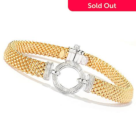 127-578 - Beverly Hills Elegance 14K Bonded 7.5'' 0.10ctw Diamond Circle Bracelet