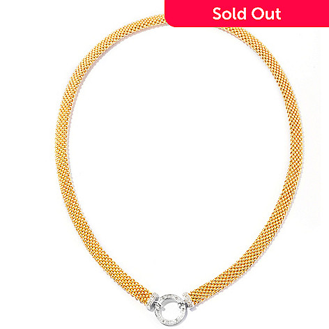 127-580 - Beverly Hills Elegance 14K Bonded 18'' 0.10ctw Diamond Circle Necklace