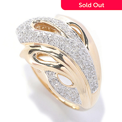 127-585 - Beverly Hills Elegance 14K Gold 0.50ctw Diamond Band Ring