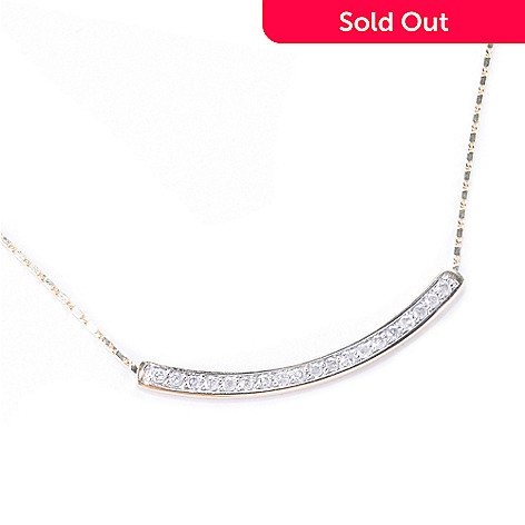 127-590 - Beverly Hills Elegance 14K Gold 0.35ctw Diamond Curved Necklace