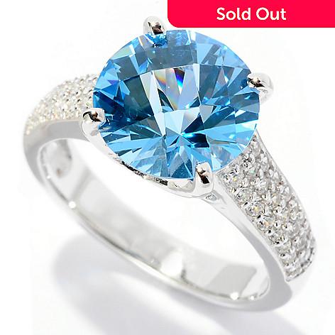127-623 - Brilliante® Platinum Embraced™ 4.30 DEW Round Cut Simulated Diamond Ring