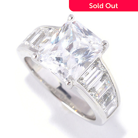 127-624 - Brilliante® Platinum Embraced™ 6.56 DEW Simulated Diamond ''Angelina'' Ring