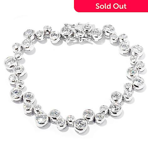 127-648 - Brilliante® Platinum Embraced™ Scattered Bubble Line Bracelet