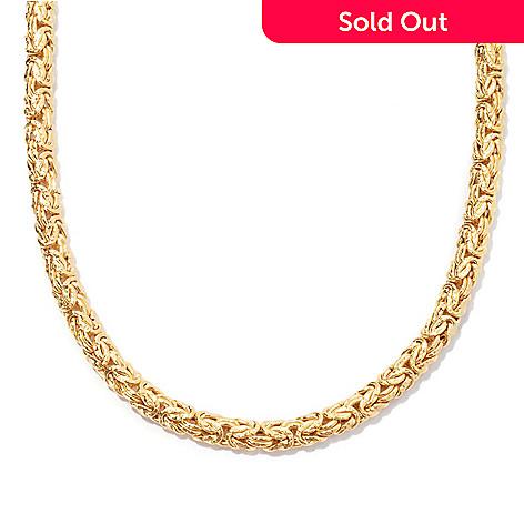 127-661 - Portofino 18K Gold Embraced™ Polished & Textured Byzantine Necklace