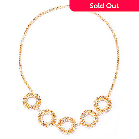 127-663 - Portofino Gold Embraced™ 20'' Five-Circle Curb Link Necklace