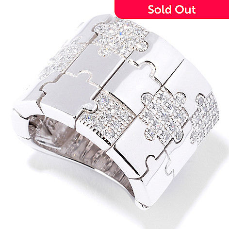 127-728 - Sonia Bitton for Brilliante® Round Cut Pave Set Puzzle Dream Fit™ Ring