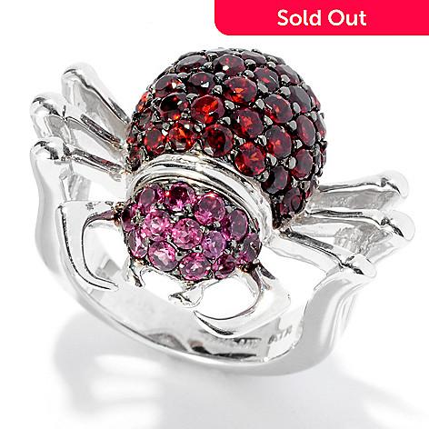127-742 - NYC II™ 2.93ctw Garnet & Rhodolite Spider Ring
