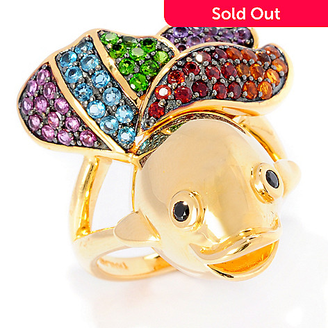 127-745 - NYC II 1.26ctw Multi Gemstone Fish Ring