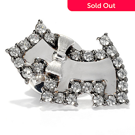 127-751 - NYC II 1.00ctw White Zircon Scottie Dog Scatter Pin