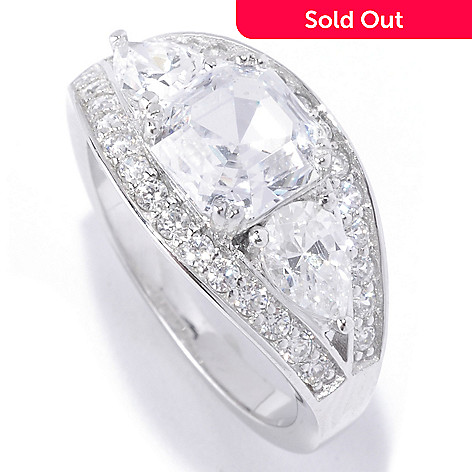 127-768 - Brilliante® Platinum Embraced™ 3.16 DEW Simulated Diamond Band Ring