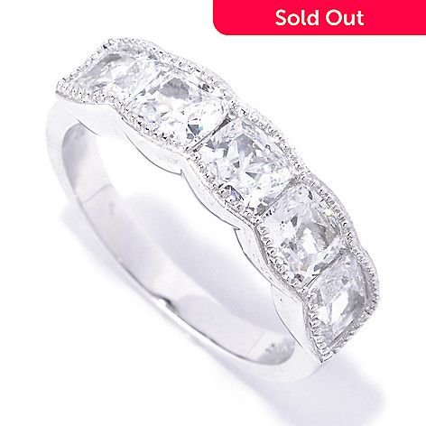 127-773 - Brilliante® Platinum Embraced™ 2.50 DEW Simulated Diamond Scalloped Milgrain Band Ring