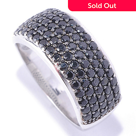 127-774 - Brilliante® Platinum Embraced™ 1.19 DEW Round Cut Simulated Diamond Black Pave Ring