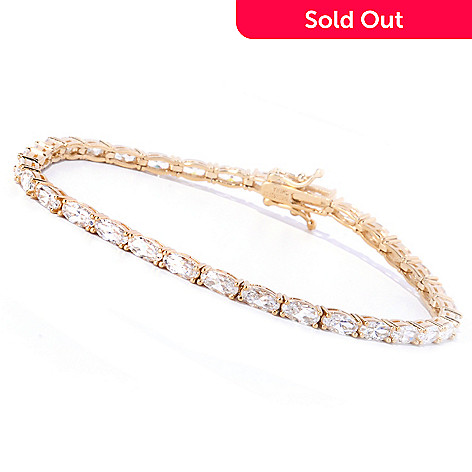 127-784 - Brilliante® Polished Oval Cut Tennis Bracelet