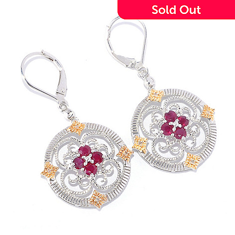 127-791 - NYC II™ Gemstone & Diamond Medallion Drop Earrings
