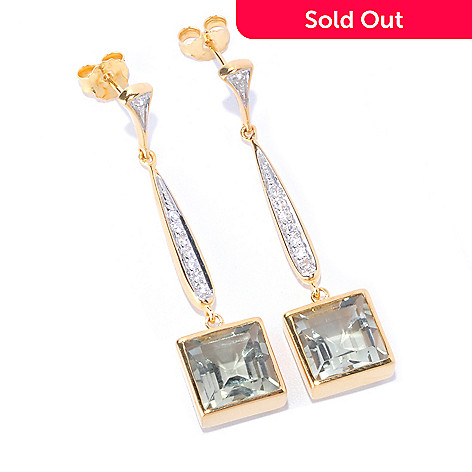 127-794 - NYC II Gemstone & White Zircon Elongated Drop Earrings
