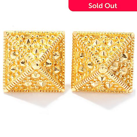 127-810 - Jaipur Bazaar Gold Embraced™ Pyramid Stud Earrings