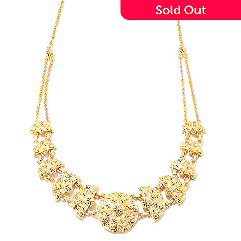 127-818 - Jaipur Bazaar Gold Embraced™ 18'' Textured Double Chain Necklace
