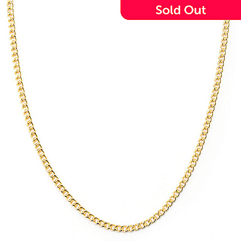 127-827 - Milano Luxe Gold Embraced™ 38'' Curb Link Necklace